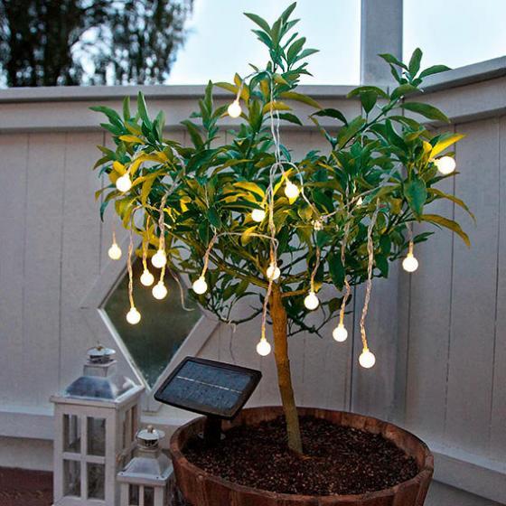 LED Solar-Lichterkette Moon Drops, 20-teilig