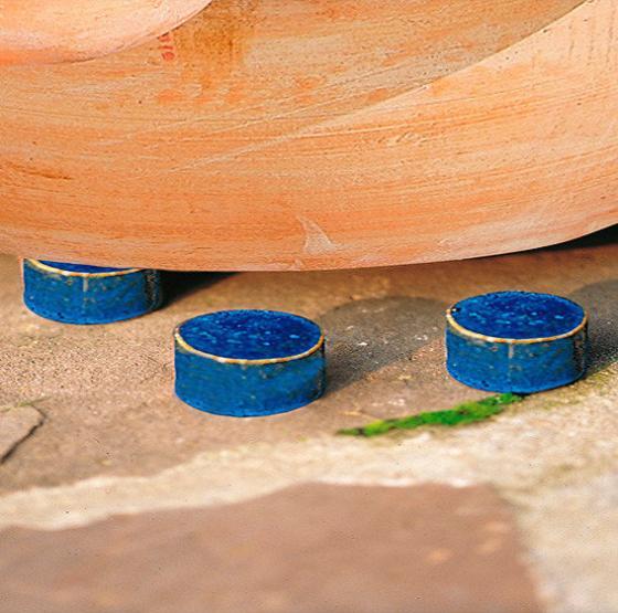 Kübelfuß rund, königsblau