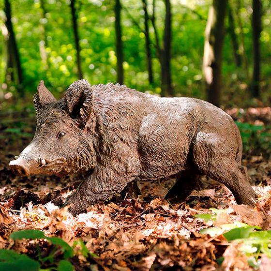 Gartenfigur Wildschwein