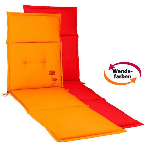 Deckchairauflage Samba Anisa, rot/orange