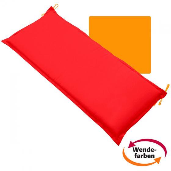 Sitzbank-Kissen Samba Anisa, 110 cm, rot/orange