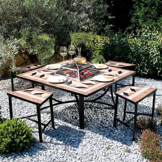 mosaik grill sitzgruppe online kaufen bei g rtner p tschke. Black Bedroom Furniture Sets. Home Design Ideas