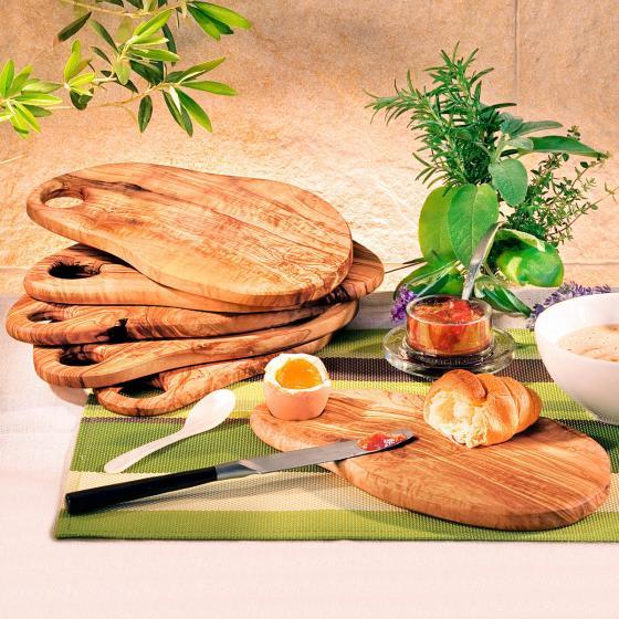 Olivenholz-Frühstücksbrett, groß