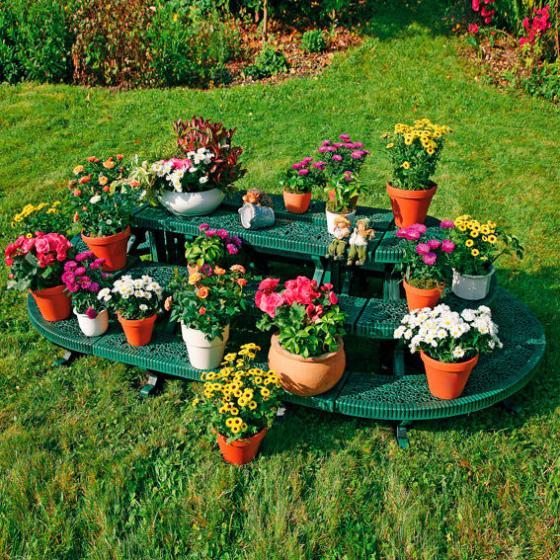 Pflanzregal-Kombi-Set, länglich, grün