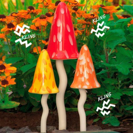Windspiel Pilze Zauberwald Sommer, 3er-Set