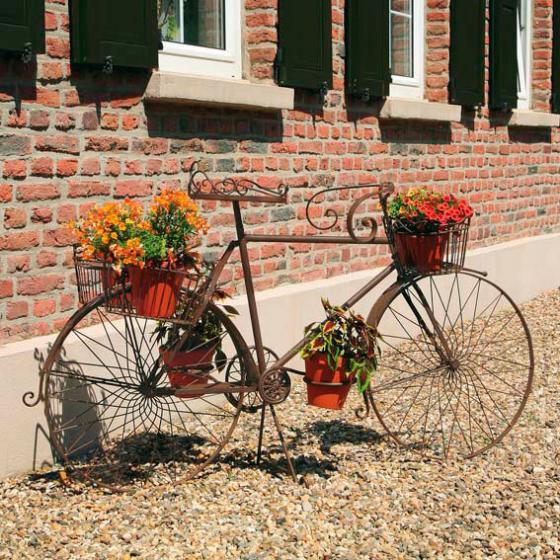 Blumenständer Nostalgisches Blumenfahrrad