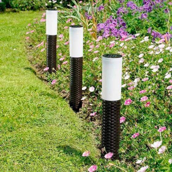 LED Solar-Wegleuchte 3er-Set