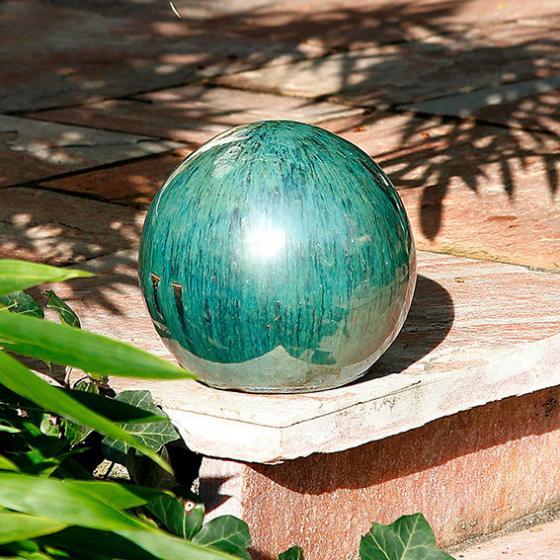 Keramik-Dekokugel jadegrün 17 cm