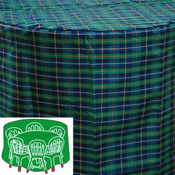 Sitzgruppen-Schutzhülle, grün, rund, klein