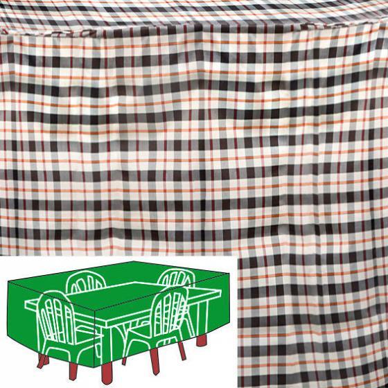 Sitzgruppen-Schutzhülle, beige, rechteckig, groß