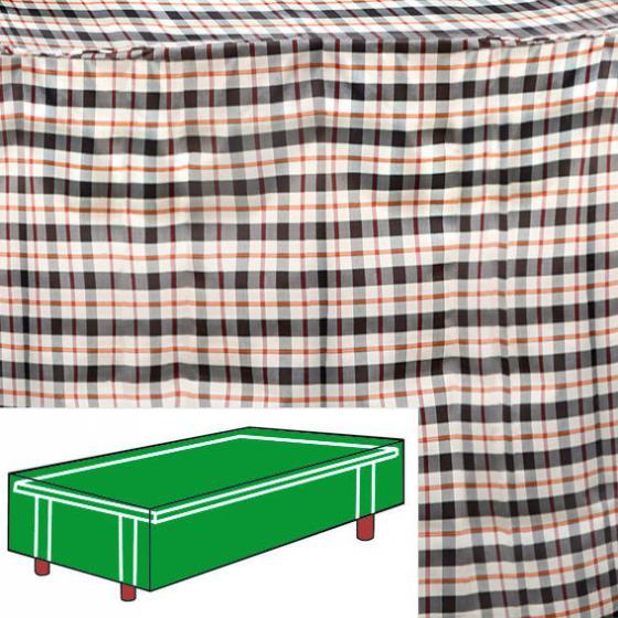 Tisch-Schutzhülle, beige, rechteckig, groß