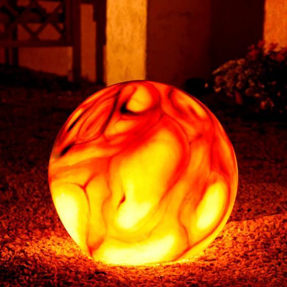 Gartenlampe Marmorkugel 50 cm