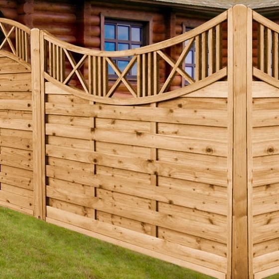Sichtschutz Holz HOhe 160 Cm ~  langlebiges FSC zertifiziertes Holz Maße Höhe 160, Länge 180 cm