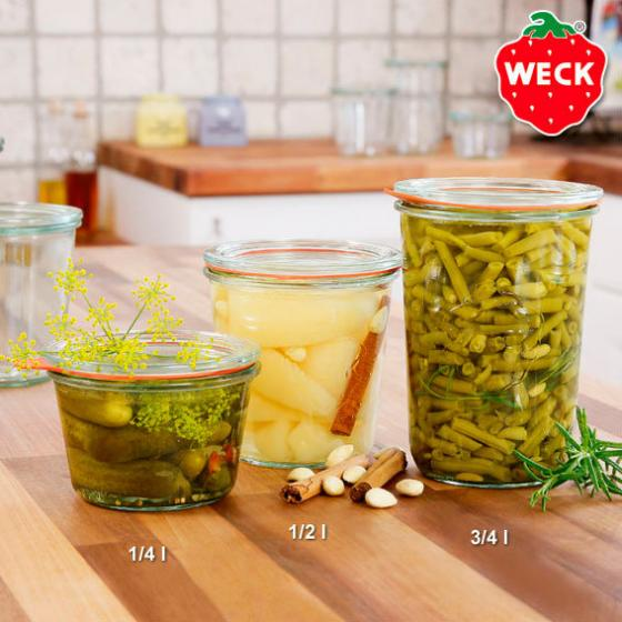 WECK Sturzform, 6er-Set, 1/4l (370ml)