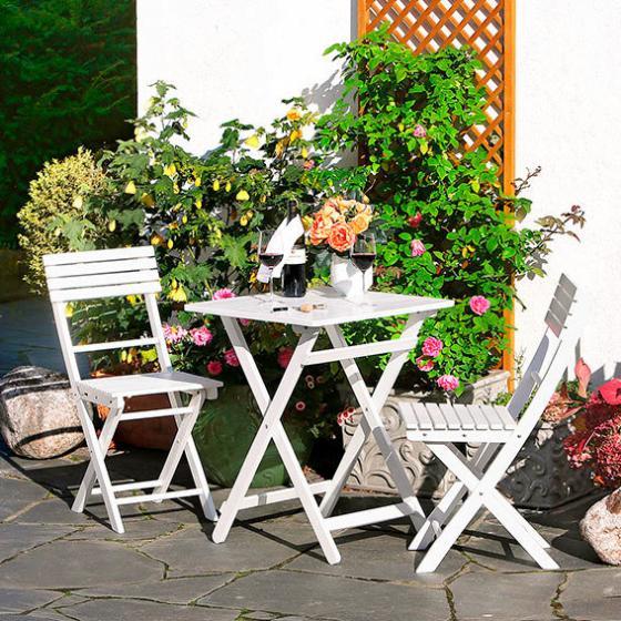 Balkon-Sitzgruppe Petit Balcon, weiß