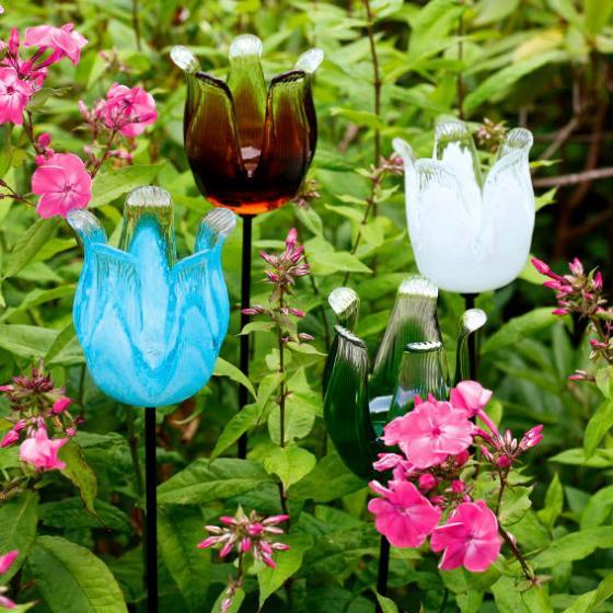 Glasstecker Tulpenblüte smaragdgrün