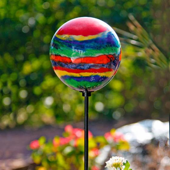 Glaskunst-Stecker Picasso Kugel inklusive Stab