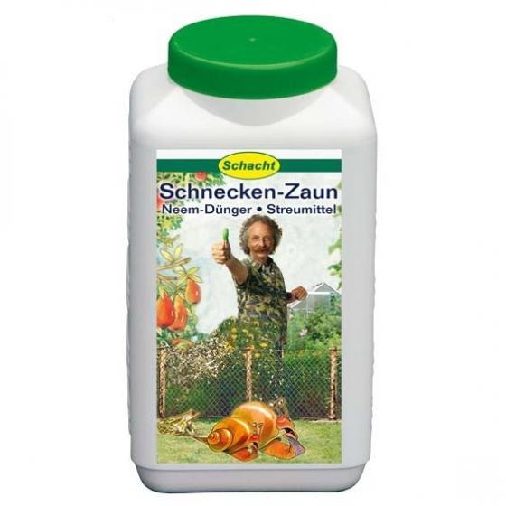 Schacht Schnecken-Zaun, Neem-Dünger + Streumittel, 1,5 kg