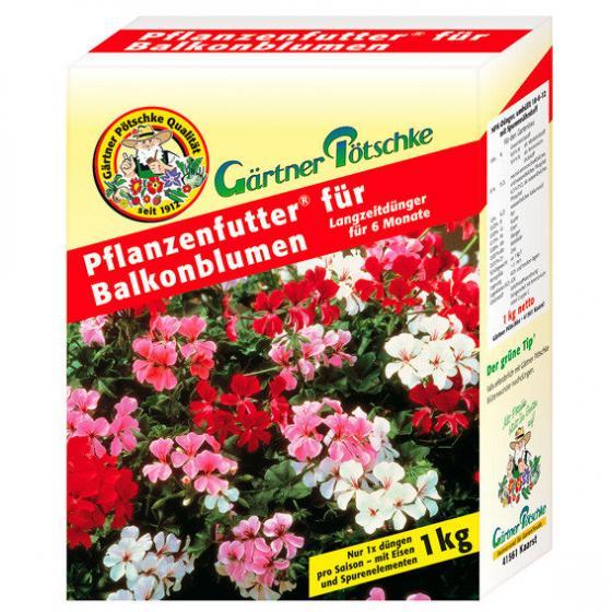 Gärtner Pötschke Pflanzenfutter für Balkonblumen, 1 kg