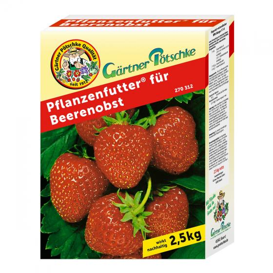 Gärtner Pötschke Pflanzenfutter für Beerenobst, 2,5 kg