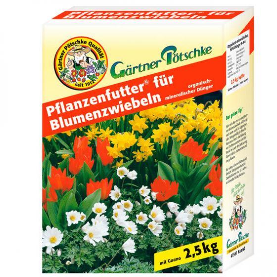 Gärtner Pötschke Pflanzenfutter für Blumenzwiebeln, 2,5 kg