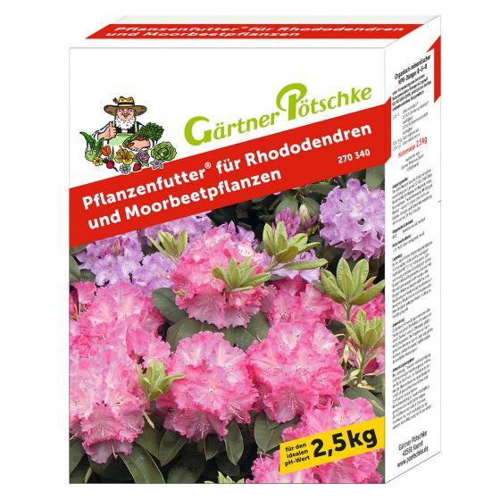 Gärtner Pötschke Pflanzenfutter für Rhododendren, 2,5 kg