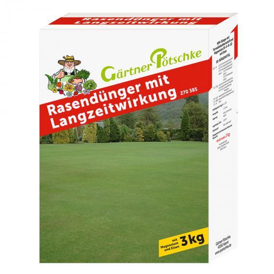Gärtner Pötschke Rasendünger mit Langzeitwirkung, 3 kg