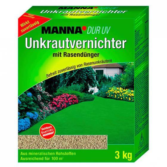 Manna DUR UV Unkrautvernichter mit Rasendünger, 3 kg