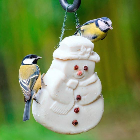 Vogelfutter-Schneemann Nasch-mich