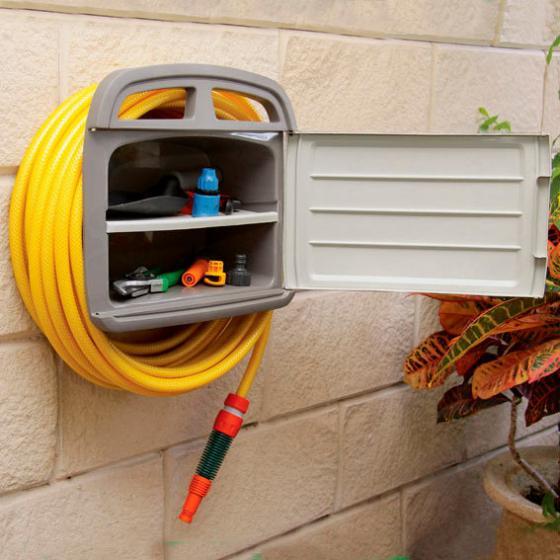 Schlauchhalter mit Gerätebox