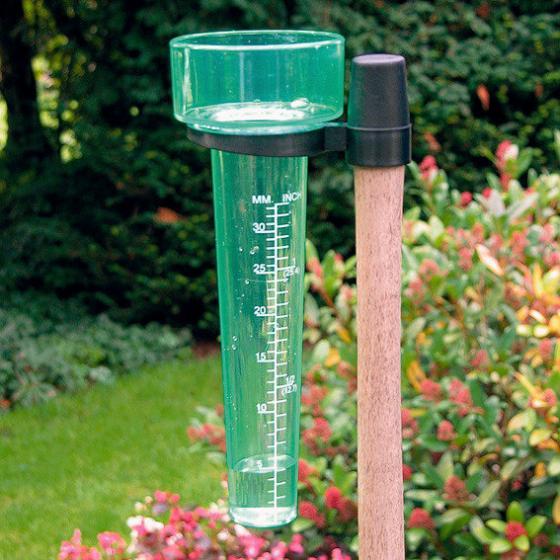 Regenmesser mit Aufsteckhülse, Kunststoff, ca. 25x8 cm