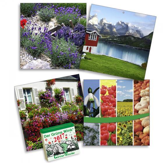 Gärtner Pötschkes Kalender-Rückwand Der Grüne Wink®, 4 Motive