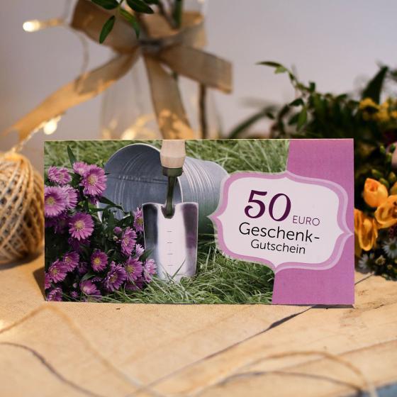 50,- Euro Geschenk-Gutschein