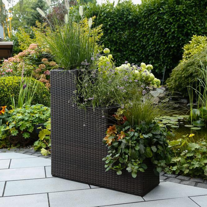 blumen verschicken outdoor rattan pflanztreppe la scala 3 stufig. Black Bedroom Furniture Sets. Home Design Ideas