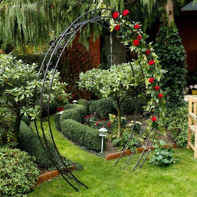 """Rosenbogen """"Trend Garden"""" aus Eisen, schwarz (Kopie) Pötschke"""