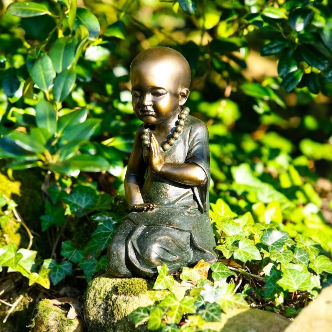 """Deko-Figur """"Mönch Dawa"""" aus Polyresin, bronzefarben"""