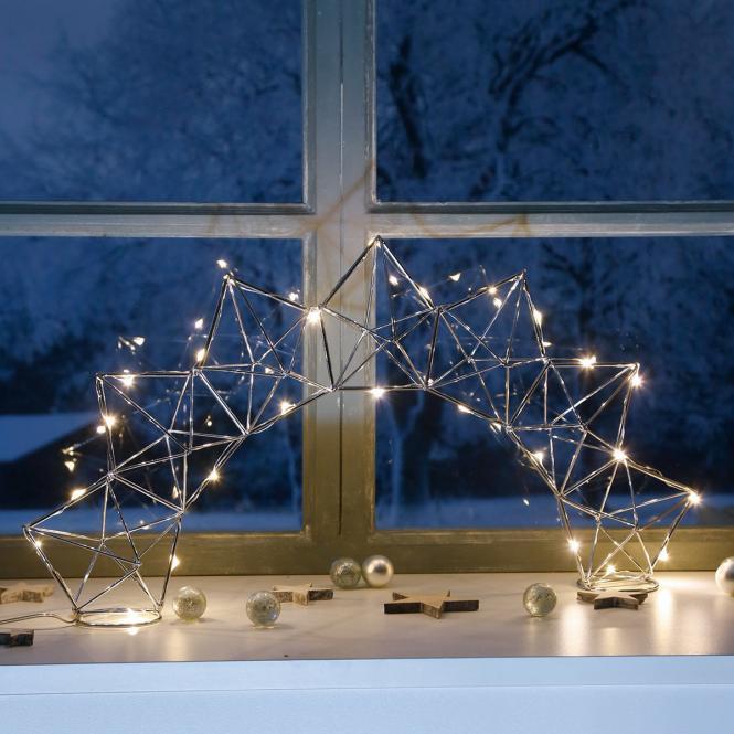 LED-Fensterleuchter Modern Christmas, 25 LEDs