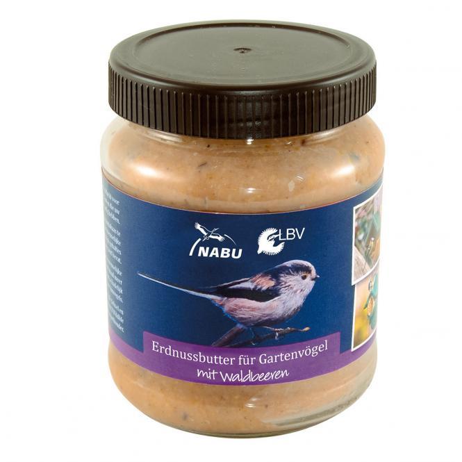 Erdnussbutter für Vögel mit Waldbeeren