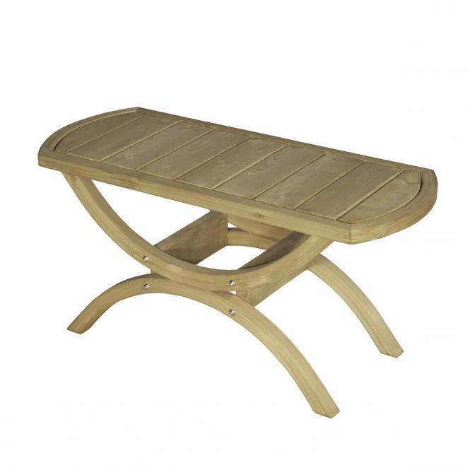 Gartentisch Tavolino, Beistelltisch, braun