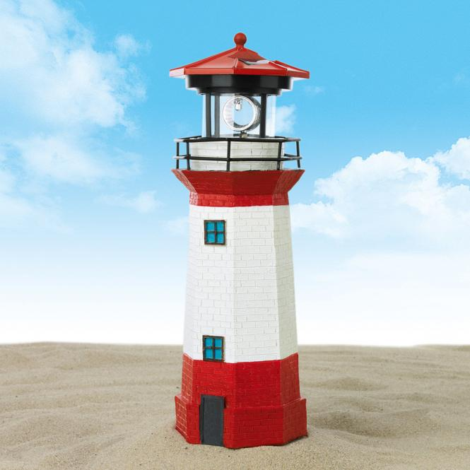 EASYmaxx Solar-Leuchtturm rot-weiß