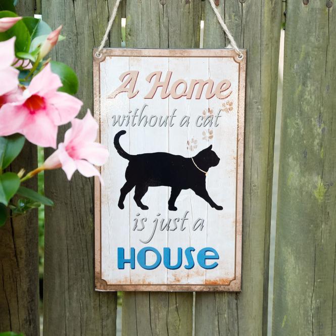 Wandschild Cat Love