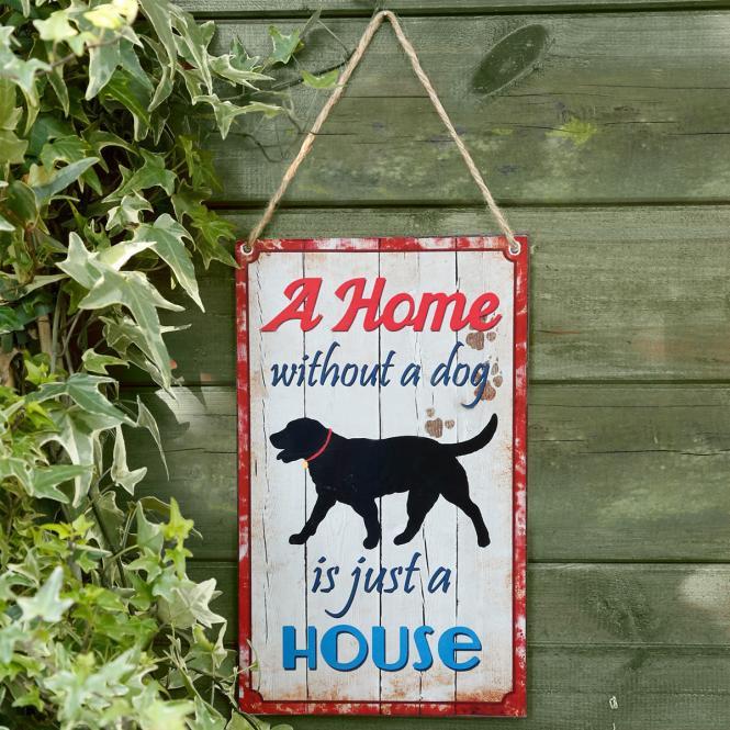 Wandschild Dog Love