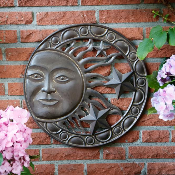 """*NEU*: Wanddekoration """"Sunstar"""" aus Metall, braun"""
