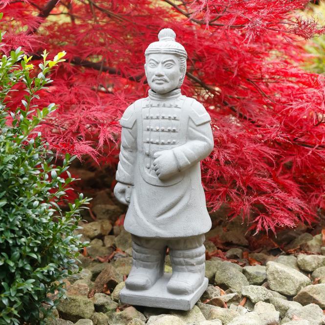 """Deko-Figur """"Terracotta-Krieger"""" aus Terracotta, grau"""