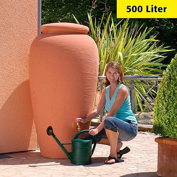 Regenwassertank Amphore 500 Liter, terracotta