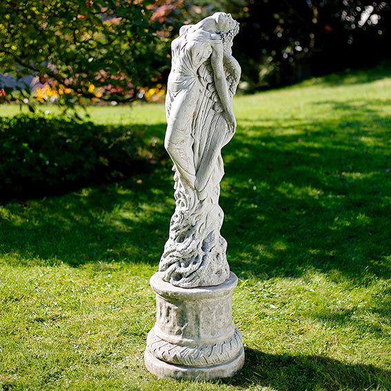 Garten-Statue Sonnenengel mit Säule