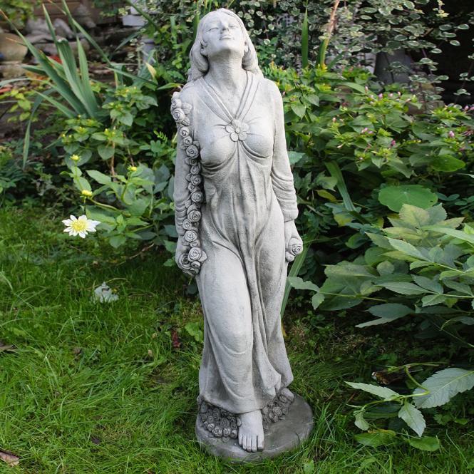 "*NEU*: Deko-Figur ""Kate"" aus Steinguss, mit Säule, grau (Kopie)"