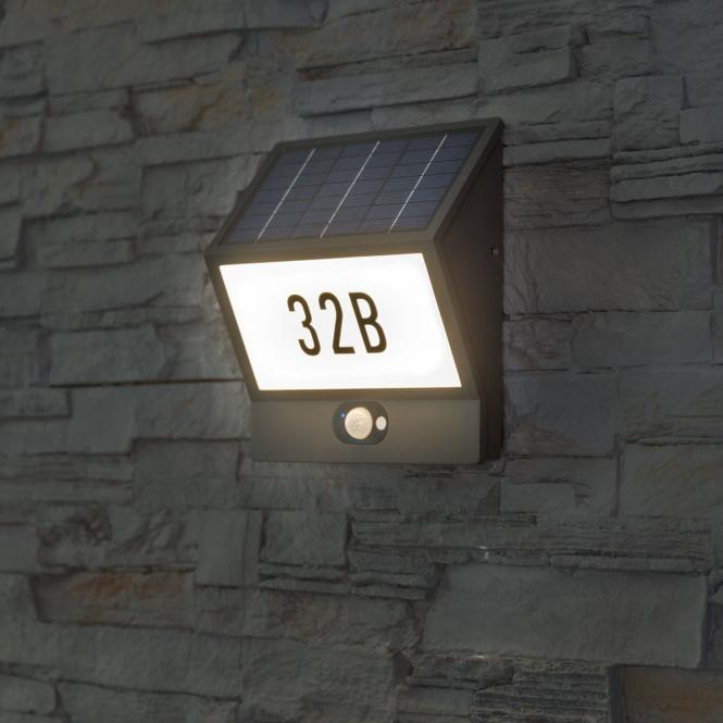 Solar-LED-Hausnummernleuchte Andrea