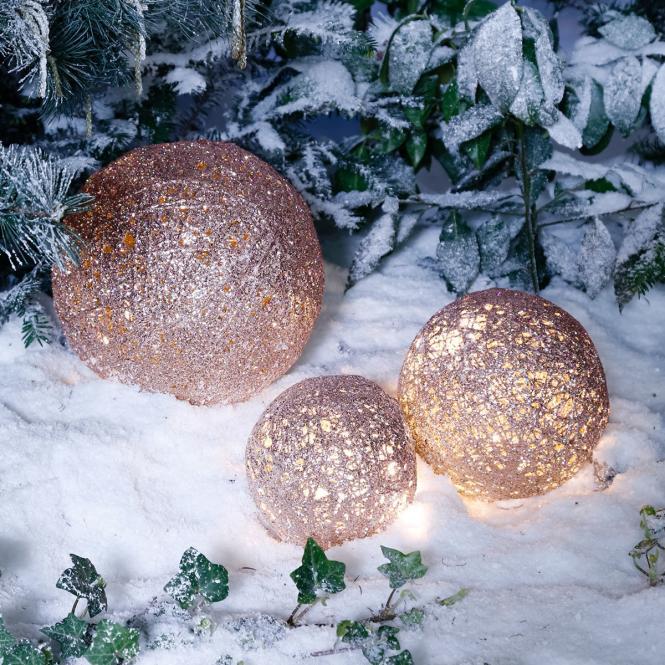 LED-Glitzerkugel Sternenstaub, mittel