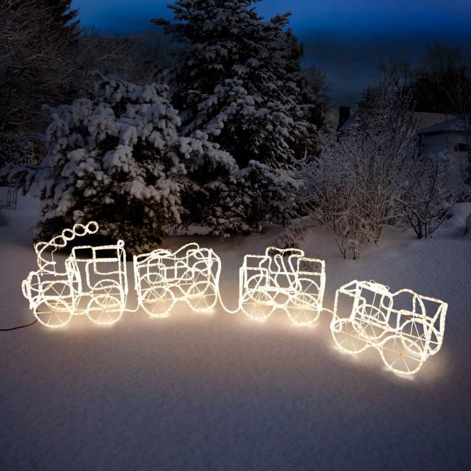 *All for X-Mas*: LED-Zug mit drei Waggons aus Eisen